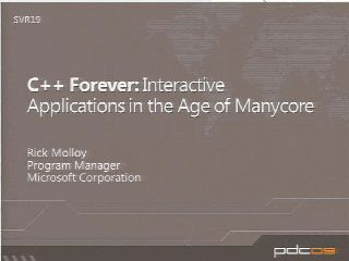 C++ Forever: Interactive Applications in the Age of Manycore