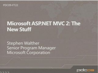 Microsoft ASP.NET MVC 2: The New Stuff