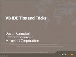 Microsoft Visual Basic IDE Tips and Tricks