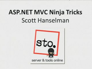 ASP.NET MVC 2: Ninjas Still on Fire Black Belt Tips