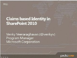 Leveraging and Extending Microsoft SharePoint Server 2010 Identity Features