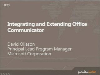 Integrating and Extending the Microsoft Office Communicator Experience with Windows Presentation Foundation and Microsoft Silverlight