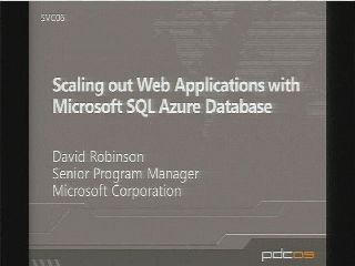 Scaling out Web Applications with Microsoft SQL Azure Databases