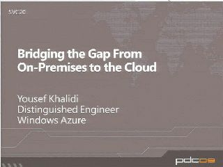 Bridging the Gap from On-Premises to the Cloud