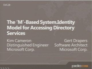 The 'M'-Based System.Identity Model for Accessing Directory Services
