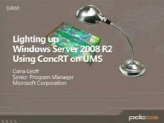 Lighting up Windows Server 2008 R2 Using the ConcRT on UMS