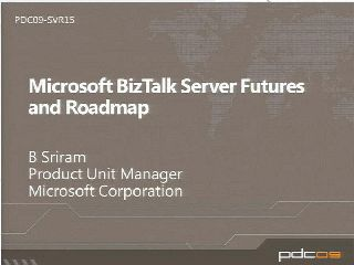Microsoft BizTalk Server Futures and Roadmap
