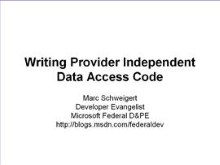 Writing Provider Independent Data Access Code