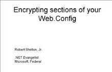 Encrypting your web.config file with ASP 2.0 (Visual Studio 2005)