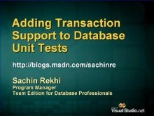 Add Transaction Support to Database Unit Tests