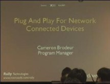 Windows Rally Technologies Seminar: Plug And Play For Network Connected Devices