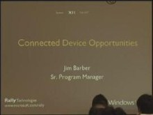 Windows Rally Technologies Seminar: Connected Device Opportunities