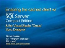 Visual Studio Orcas Sync Designer for Caching Data in SQL Server Compact Edition