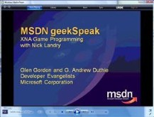 geekSpeak - XNA game development with Nick Landry
