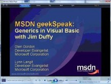 geekSpeak Generics (and more) in VB with Jim Duffy