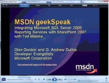 geekSpeak - SQL Server Reporting Service with Ted Malone