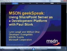 geekSpeak - SharePoint Features with Paul Stork
