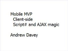 Mobile Model in MVP web app