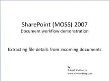 SharePoint Document Workflow: Extracting document details with your workflow