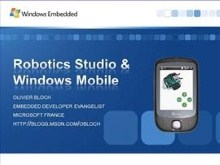 Driving a Robot from my WIndows Mobile device using Robotics Studio