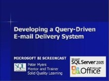 Business Intelligence #02a: Developing a Query-Driven E-mail Delivery System