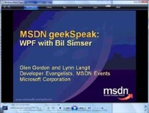 geekSpeak recording - WPF with Bil Simser