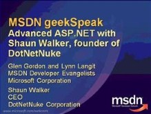 geekSpeak: About DotNetNuke with Shaun Walker