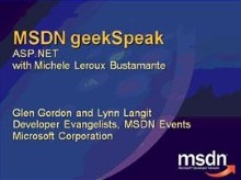 geekSpeak recording: Advanced ASP.NET with Michele Leroux Bustamante