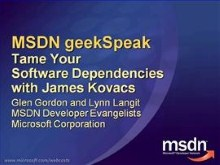 geekSpeak recording: Tame Your Software Dependencies with James Kovacs