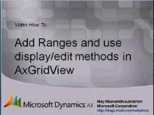 Microsoft Dynamics AX 2009 – Advanced Grid in  Enterprise Portal List Page