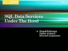 SQL Services : Under the Hood