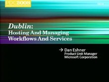 """Dublin"": Hosting and Managing Workflows and Services in Windows Application Server"