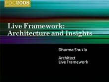 Live Services: Live Framework Programming Model Architecture and Insights