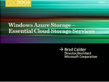 Windows Azure: Essential Cloud Storage Services
