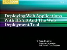 Web Application Packaging and Deployment