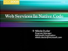 Windows 7: Web Services in Native Code