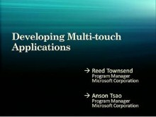 Windows 7: Developing Multi-touch Applications