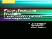 WPF: Extensible BitmapEffects, Pixel Shaders, and WPF Graphics Futures
