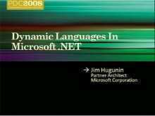 Deep Dive: Dynamic Languages in Microsoft .NET