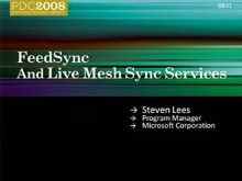 Live Services: FeedSync and Mesh Synchronization Services