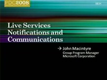 Live Services: Notifications, Awareness, and Communications