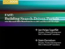 FAST: Building Search-Driven Portals with Microsoft Office SharePoint Server 2007 and Microsoft Silverlight