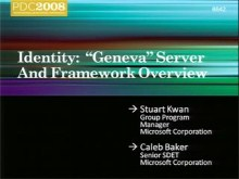 "Identity:  ""Geneva"" Server and Framework Overview"