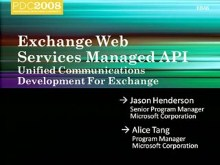Exchange Web Services Managed API: Unified Communications Development for Exchange