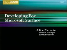 Developing for Microsoft Surface