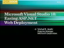 Microsoft Visual Studio: Easing ASP.NET Web Deployment