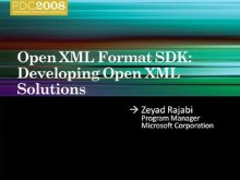 Open XML Format SDK: Developing Open XML Solutions