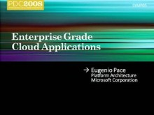 Services Symposium: Enterprise Grade Cloud Applications