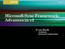 Microsoft Sync Framework Advances