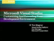 Microsoft Visual Studio: Customizing and Extending the Development Environment